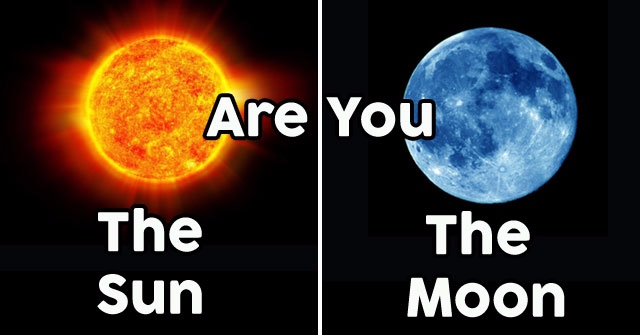 Are You The Moon Or The Sun?
