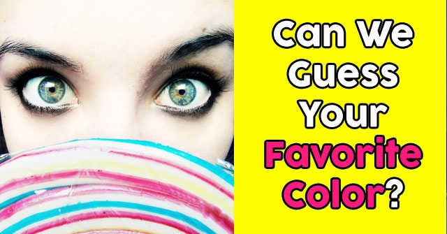 Can We Guess Your Favorite Color?