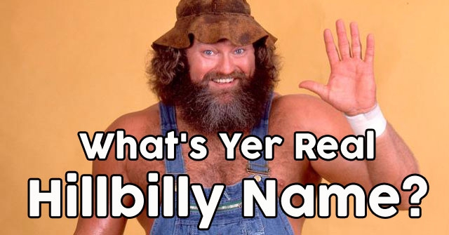 What's Yer Real Hillbilly Name?