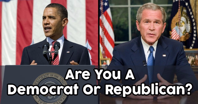 Are You A Democrat Or Republican?