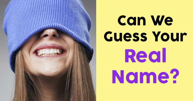 Can We Guess Your Real Name?