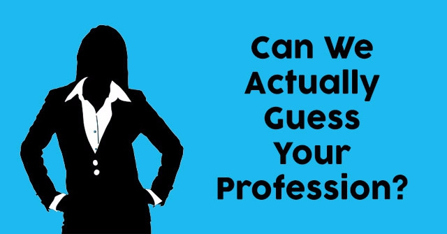 Can We Actually Guess Your Profession?