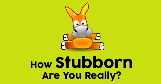 How Stubborn Are You Really?