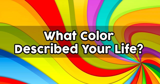 What Color Described Your Life?