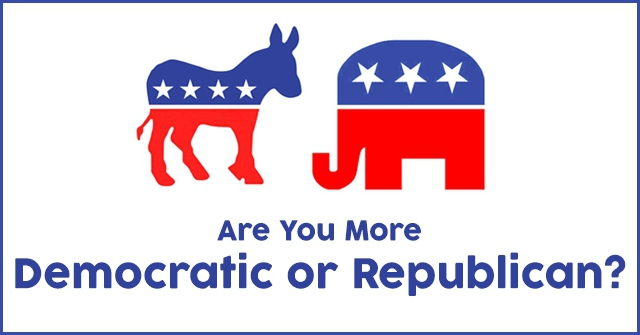 Are You More Democratic or Republican?