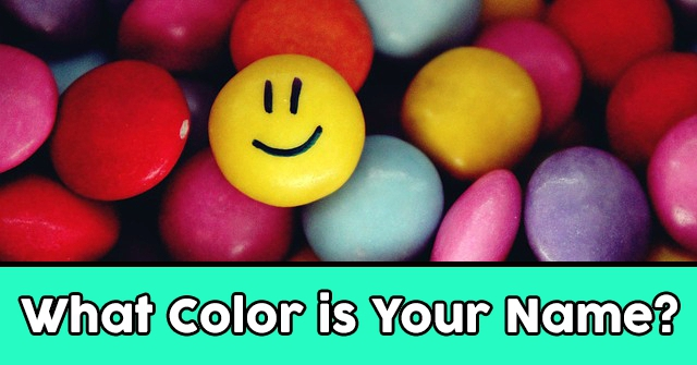 What Color is Your Name?