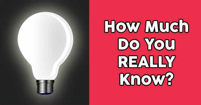 How Much Do You REALLY Know?