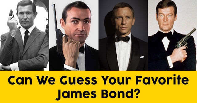Can We Guess Your Favorite James Bond?