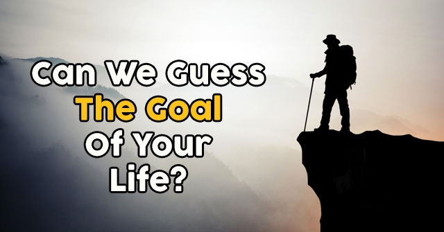 Can We Guess The Goal Of Your Life?