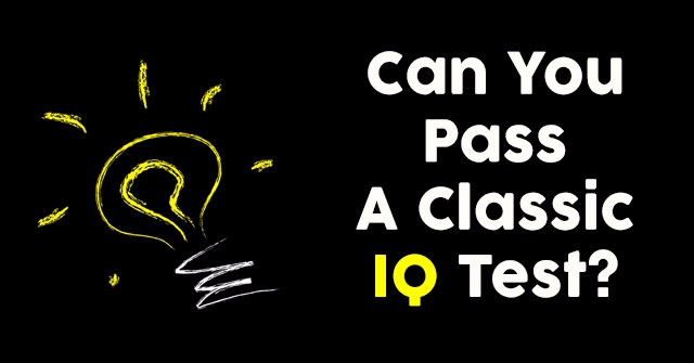 Can You Pass A Classic IQ Test?