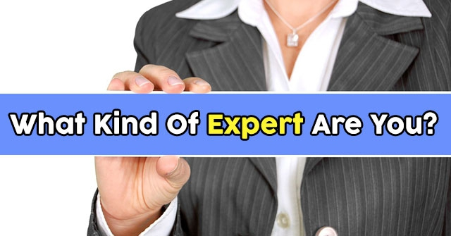 What Kind Of Expert Are You?