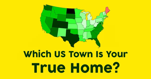 Which US Town Is Your True Home?