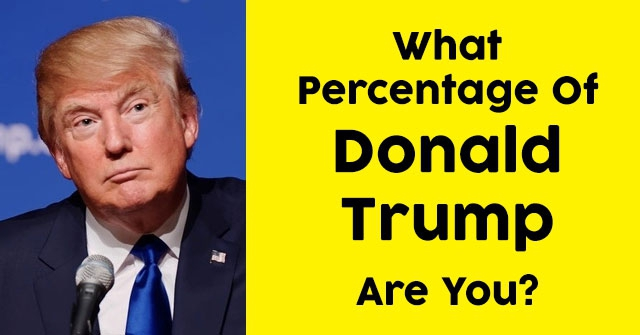 What Percentage Of Donald Trump Are You?