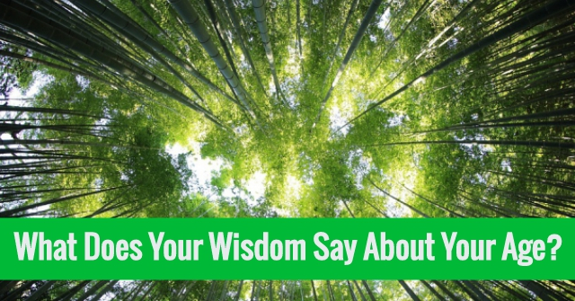 What Does Your Wisdom Say About Your Age?