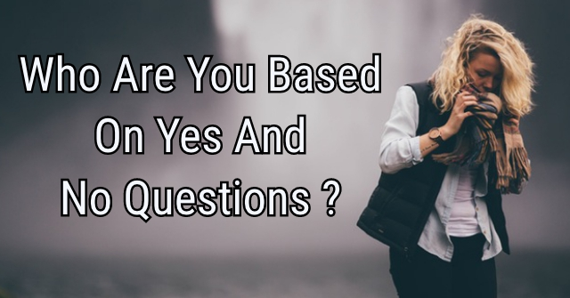 Who Are You Based On Yes And No Questions?