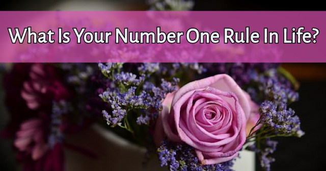 What Is Your Number One Rule In Life?