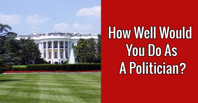 How Well Would You Do As A Politician?