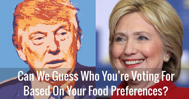 Can We Guess Who You're Voting For Based On Your Food Preferences?