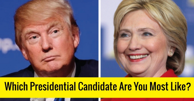Which Presidential Candidate Are You Most Like?