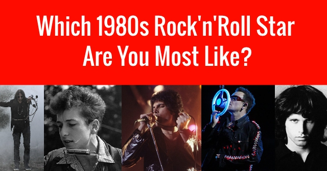 Which 1980s Rock'n'Roll Star Are You Most Like?