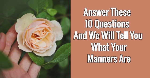 Answer These 10 Questions And We Will Tell You What Your Manners Are
