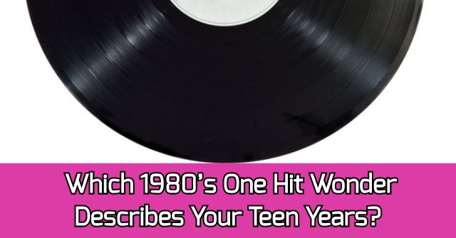 Which 1980's One Hit Wonder Describes Your Teen Years?