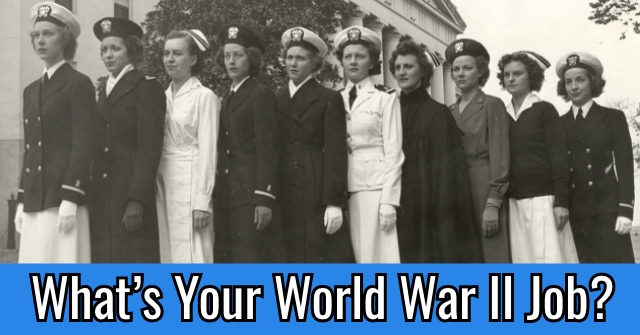 What's Your World War II Job?