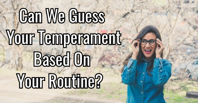 Can We Guess Your Temperament Based On Your Routine?