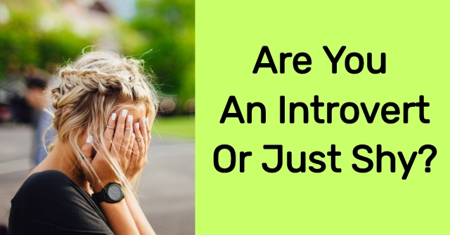 Are You An Introvert Or Just Shy?