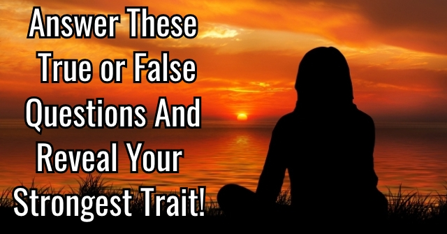 Answer These True or False Questions and Reveal Your Strongest Trait!