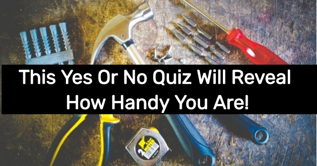 This Yes Or No Quiz Will Reveal How Handy You Are!