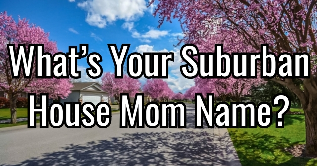 What's Your Suburban House Mom Name?
