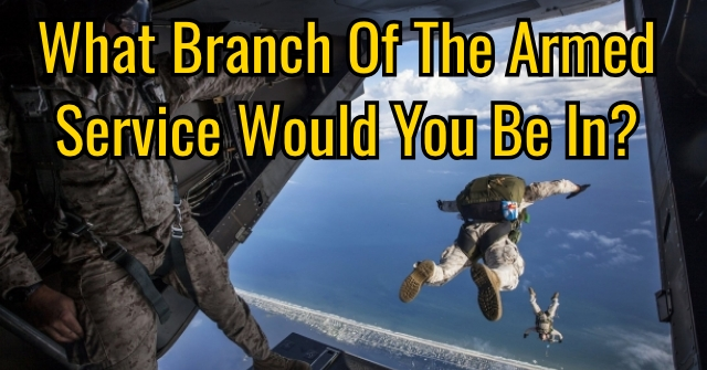 What Branch Of The Armed Service Would You Be In?