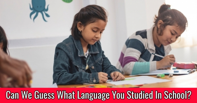 Can We Guess What Language You Studied In School?