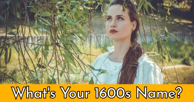 What's Your 1600s Name?