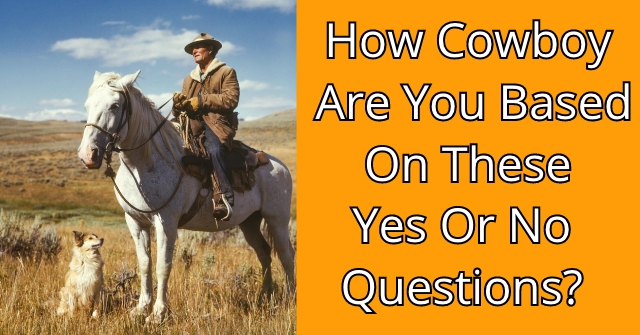 How Cowboy Are You Based On These Yes Or No Questions?